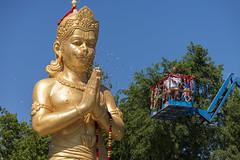 DUE_4605r (crobart) Tags: dedication statue ji golden vishnu hill ceremony richmond celebration idol hanuman unveiling hindu hinduism mandir bapu pujya morari