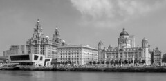 The Three Graces (Grayscale) (planetreeimages) Tags: liverpool waterfront threegraces rivermersey merseyferry