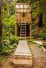 WCT - Day 3 - Camper Bay Out House (yeahwotever) Tags: west coast trail canada british columbia vancouver island 2016 camping hiking path forest trees green out house crapper shitter can poop shack mask carving ladder