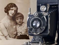 Winnie and Kenneth (r4foto) Tags: 1920s sepia kodak nostalgia winnie kenneth sepiatone kodak1a kodakfoldingcamera 1920sportrait kodak1aseries111 kennethhillcox winnehillcox