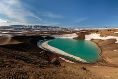 crater lake (Andrei-Dragos) Tags: summer sky mountain lake mountains nature water clouds canon landscape volcano iceland outdoor wide crater ultrawide 6d