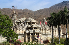 Adinath Temple and greenery.jpg (melissaenderle) Tags: religion asia rajasthan jain church synagogue mosque