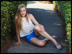 Emma - Forage (jfinite) Tags: summer beauty fashion model legs environmental portraiture blonde heels shorts sheer