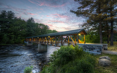 Bridge and Beyond I (Decaseconds) Tags: hdr canton newyork northcountry grasse river suny bridge adirondack sunset