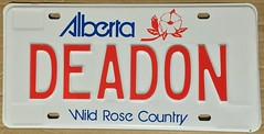 ALBERTA PERSONALIZED LICENSE PLATE  #DEADON (woody1778a) Tags: deadon autotags personalized vanity mycollection myhobby alberta licenseplate numberplate registrationplate alpca1778
