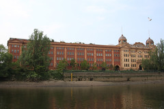 Harrods Depository (NTG's pictures) Tags: london river thames harrods depository