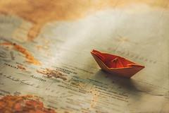 on exploration (simonpe86) Tags: ocean blue orange water boot boat meer wasser map karte blau gewsser