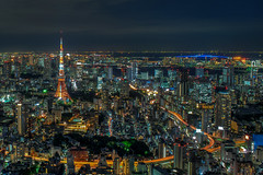 Eiffel Tokyo (Javiralv) Tags: tower japan night tokyo noche torre eiffel japn