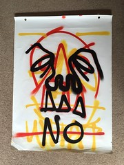 No (Krillinator) Tags: street red summer portrait sun white black colour detail art face lines yellow illustration composition self work painting paper outside layout skull graffiti student paint artist different hand bright personal drawing expression contemporary background text creative free vivid surreal style images spray illustrative line marks size illustrator draw outlines simple produced bold foreground individual 2016