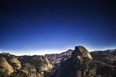 Half Dome (bb8ller) Tags: life park trees light wild rock night dark painting way point four rocks long exposure hiking hike glacier national astrophotography yosemite dome half flashlight miles milky constellations mile 48 wilds