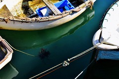 The space between (mirandagraceknight) Tags: sea seascape colour boats boat cornwall harbour sealife mevagissey kernow ilovecornwall