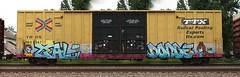 Zeal/Donde (quiet-silence) Tags: railroad art train graffiti railcar boxcar graff freight aub donde sts tbox ttx fr8 zeal tbox660547