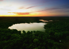 sunset at mirror lake (luissaenz_com) Tags: sunset michigan mirrorlake aerial drone