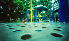 playground at f133 20seconds (mohamedyamin_masop) Tags: holga wpc wide pinhole camera medium format expired cross process film tiny aperture slowshutterspeed playground