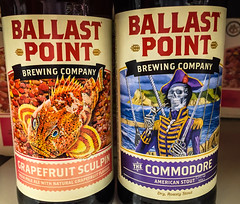 Ballast Point Grapefruit Sculpin India Pale Ale and The Commodore American Stout - San Diego CA (mbell1975) Tags: ca india beer point virginia us san unitedstates cerveza ale diego pale american commodore grapefruit bier cerveja fairfax birra bire stout piwo biere ballast pivo bira l the sculpin