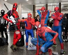 Masked Vigilantes (l plater) Tags: cosplay spiderman marvelcomics sydneyolympicpark deadpool supanovaexposydney2016 maskedvigilantes