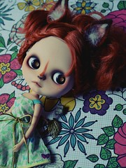 Little Vixxen (Lawdeda ) Tags: birthday 2 two its by doll with erin adorable her fox ago blythe years custom dolly today woot awesomeness deir 7716 picmonkey