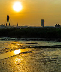 Tamsui River Sunseting (simmosimpsonphotography) Tags: marsh bog bridge silhouette sun lowsun
