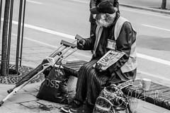 newspapers seller (jakubkloc.photography) Tags: street city uk people white man black london colors beautiful photography live poor newspapers hard jakub kloc