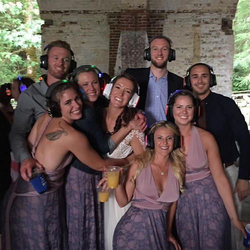 """#Repost @hannn_nuhhh ・・・ Throwing it back to this past weekend at Nicki and Avery's silent disco wedding! #takemeback #silentdisco #nickiaverywedding #collegebesties • <a style=""""font-size:0.8em;"""" href=""""http://www.flickr.com/photos/33177077@N02/28169045325/"""" target=""""_blank"""">View on Flickr</a>"""