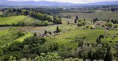 vue des remparts de ... (jean-marc losey) Tags: primavera spring italia vert toscana toscane printemps italie remparts sangiminiano p7000 polyculture