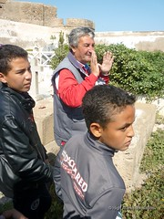 5 May 2013 - Visit to Christian and Jewish cemeteries with young people 14 (High Atlas Foundation) Tags: cemeteries heritage cemetery tolerance jewish coexistence essaouira cultural preservation fha haf communitydevelopment civilsociety sustainabledevelopment jewishmuslim capacitybuilding participatorydevelopment highatlasfoundation
