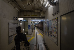 (alexkane) Tags: station japan train subway asian japanese tokyo asia platform tracks hibiya hiroo 2013
