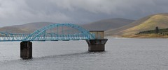 BLUE BRIDGE, MOUNTAIN RIDGE (simongavin83) Tags: bridge blue mountains water landscape scotland structure reservoir hills structural daer elvanfoot watermeetings daerreservoir ourdailychallenge nikond5100