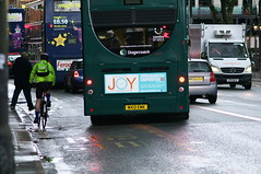 Joy (kh1234567890) Tags: bus manchester cyclist pentax busstop stagecoach fallowfield wilmslowroad cyclelane k7 smcpentaxm135mmf35 smcpm135mmf35