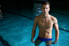 Swimwear // 1 (Paul Strowger) Tags: uk portrait man male pool fashion swimming swim paul photography suffolk photographer norfolk wear east portraiture mens norwich editorial shorts trunks swimwear anglia lightroom strowger 2013