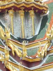 Temple decorations (Connie Churcher) Tags: travel bird thailand temple bangkok buddha royal jade grandpalace temples emerald emeraldbuddha phraborommaharatchawang grandpalacetemples