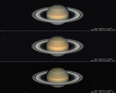 The trilogy of Saturn in 2013 season 150% (zuozhaoplanet) Tags: oursolarsystem bestnewcomer competition:astrophoto=2013