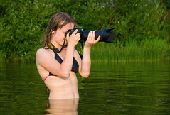 Nikon...Experiments with water! (Osdu) Tags: lake water girl lady nikon photographer russia younglady russiangirl nikkor70200 bestportraitsaoi ringexcellence