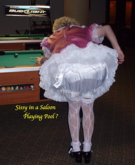 Pool Player Exposed (emily_sheldon) Tags: dress sissy frilly lacypanties