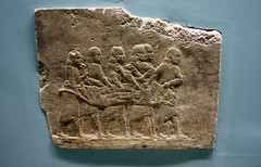 Lion Hunts of Ashurbanipal, lion carried (profzucker) Tags: sculpture london art ancient iraq lion palace relief beginning britishmuseum gypsum tigris mosul hunt assyrian excavated ashurbanipal neoassyrian ninevah rassam 645bce