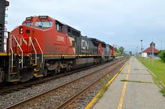 CN 2098 trailing (Michael Berry Railfan) Tags: cn train tank quebec montreal ge bnsf dorval dash8 generalelectric canadiannational oakway emd gmd atsf tankcars sd60 sd70m2 unittrain dash840cw cn700 oiltrain crudeoiltrain cnu700 cn2098 cn8919 cn5403