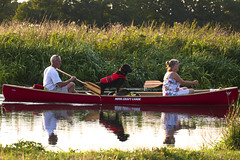 A Dog's Life (Jons_Photography) Tags: people dog sun sunlight water canon river eos evening boat sigma canoe wey 100300f4