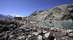 Massif du Mont-Blanc, lac Blanc (Ytierny) Tags: france horizontal altitude chamonix montblanc refuge alpinisme lacblanc randonne hautesavoie sommet randonneur et aiguillesrouges plandeau hautemontagne valledechamonix massifalpin alpesdunord ytierny