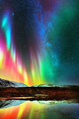 Multicolor Aurora Borealis! Nothing is as beautiful as nature!