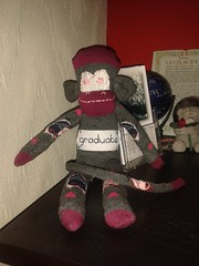 337/365 graduation sock monkey (alexharrison101) Tags: toy monkey sock graduation samsung cuddly sockmonkey softtoy flickrandroidapp:filter=none s3mini