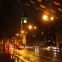 London in the rain (amy_woolnough) Tags: london westminster night parliament bigben riverthames