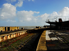 Folkestone Harbour Railway Station (richwat2011) Tags: sea urban abandoned station coast kent seaside nikon harbour shoreline platform tracks railway shore coastline d200 derelict englishchannel folkestone 18200mmvr folkestoneharbourrailwaystation
