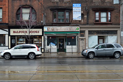 466 College St - 2 - November 9, 2013 (collations) Tags: toronto ontario architecture documentary vernacular streetscapes builtenvironment cornerstores conveniencestores urbanfabric varietystores