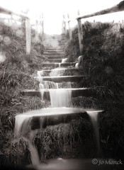Waterfall (Jo Monck Photography) Tags: water waterfall flood steps isleofwight storms floods stcatherinesoratory