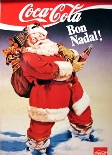 """Coca Cola. """"Bon Nadal"""". Años 60"""