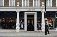 Hackett designer men's clothing shop in Sloane Street, Chelsea, London, England (Roberto Herrett) Tags: city uk greatbritain england people london english fashion horizontal outside store europe chelsea exterior britishisles unitedkingdom britain outdoor traditional rich cities gb british wealthy wealth stockphoto highclass hackett sloanestreet clothingshop rherrettflk