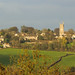 Colerne in Wiltshire and its church from Quarry Hill in Box