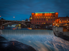 Spokane Falls (scotts_pics) Tags: bridge water night lights washington spokane waterfalls