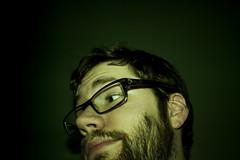 TFD: 122 (Tylerbomb) Tags: green self beard glasses flash halo tint dirty 365 flirty hue scruff thirty