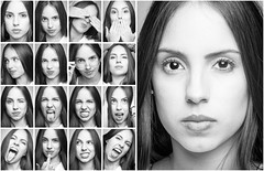 Expression Portraits (carlos Restrepo) Tags: portrait people blackandwhite woman white cute girl beautiful beauty smile face smiling female mouth hair studio happy person eyes pretty natural skin andrea background young expressions adorable posing teen human attractive brunette care cheerful